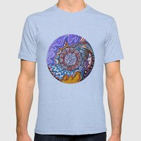 Moon viewer Mens Fitted Tee Athletic Blue SMALL