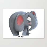 Elly the Shy elephant Canvas Print