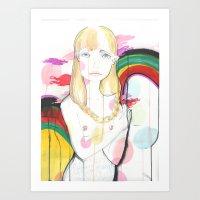 La fille de Siren Art Print