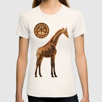 Three Giraffes Womens Fitted Tee Natural SMALL