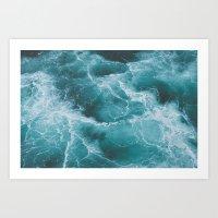 Electric Ocean Art Print