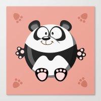 Panda from the circle series Canvas Print