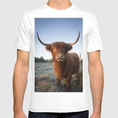 Moo Mens Fitted Tee SMALL White