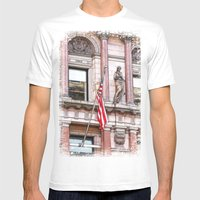 On The Side Of The Angel… Mens Fitted Tee White SMALL