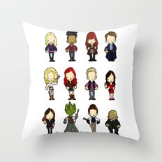 Doctors Companions and friends Throw Pillow