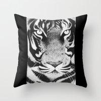 Be a Tiger Throw Pillow