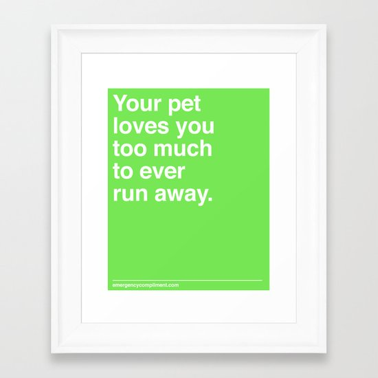 Your Pet Framed Art Print