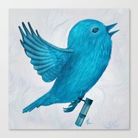 The Original Twitter - P… Canvas Print