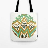 Golden Nature Mandala Tote Bag