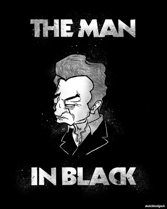 The Man in Black - Johnny Cash Art Print