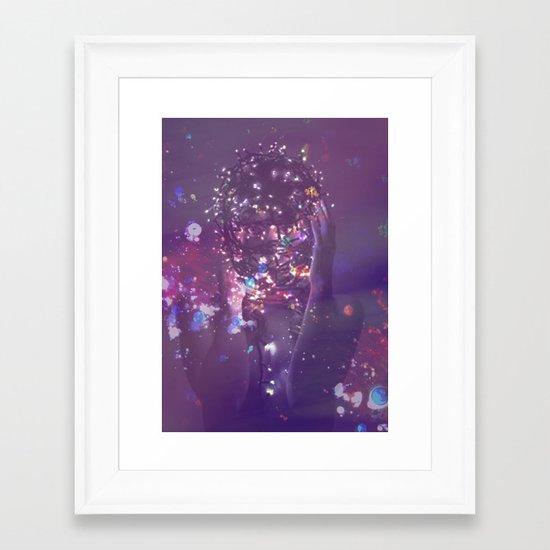 FAIRY LIGHTS  Framed Art Print
