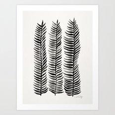 Black Seaweed Art Print