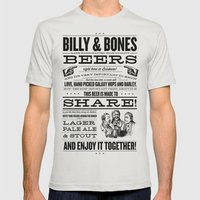 Billy & Bones Hand Craft… Mens Fitted Tee Silver SMALL