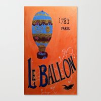Le Ballon 1783 Canvas Print