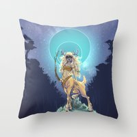 Golden Hind Throw Pillow
