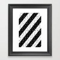 :) Framed Art Print