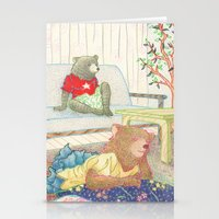 Everyday Animals- Little Bears lounge around Stationery Cards