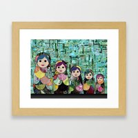 Matryoshka Nesting Dolls Framed Art Print