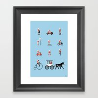 Not As Exciting Framed Art Print