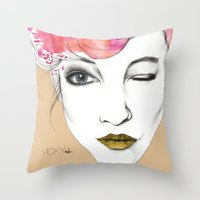 Life is a canvas, throw all the paint and sparkles on it you can Throw Pillow