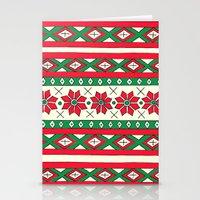 Holiday Stripes Stationery Cards