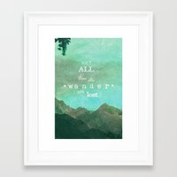 Framed Art Print featuring NOT ALL THOSE WHO WANDER ARE LOST by SUNLIGHT STUDIOS  Monika Strigel
