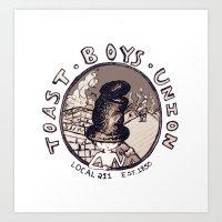 Toast Boy's Union Art Print