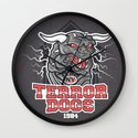 NY Terror Dogs Wall Clock
