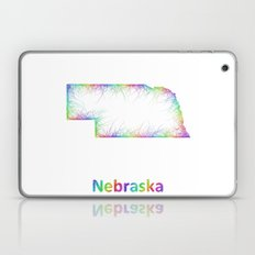 Rainbow Nebraska map Laptop & iPad Skin
