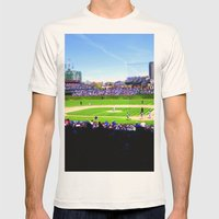 Wrigley Field Mens Fitted Tee Natural SMALL