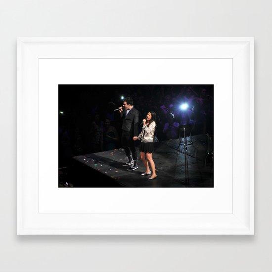 Glee Concert: Lea Michele and Chris Colfer Framed Art Print