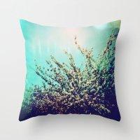 Holga Flowers I  Throw Pillow