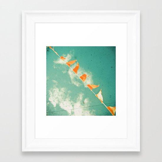 Bunting Framed Art Print