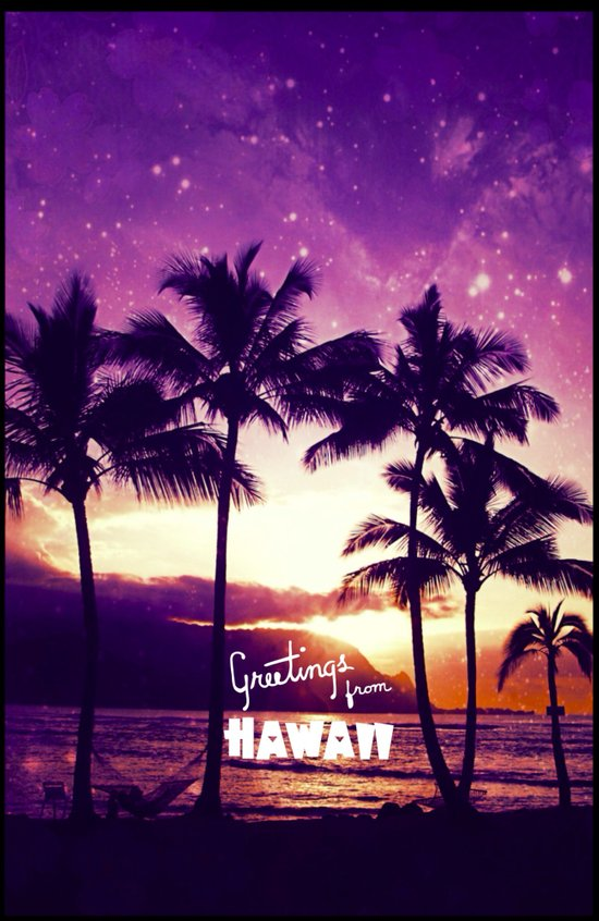 Greetings from Hawaii - for iphone Art Print