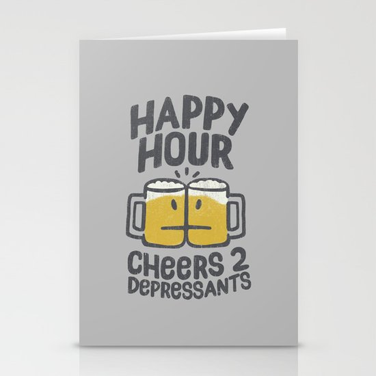 Happy Hour Stationery Card