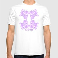 Radiant Orchid Tea Reversed Mens Fitted Tee White SMALL