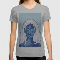 Shaman's Spiral Womens Fitted Tee Athletic Grey SMALL