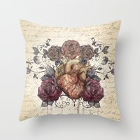 Flowers from my heart Throw Pillow