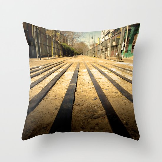 Train Line Throw Pillow