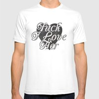 FuckLove Mens Fitted Tee White SMALL