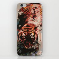 Tiger In The Water Paint… iPhone & iPod Skin