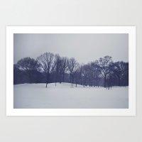 Landscape In The Snow Art Print
