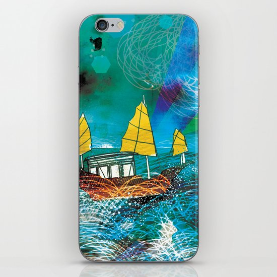 Come and Sail with me through the Stormy Sea iPhone & iPod Skin
