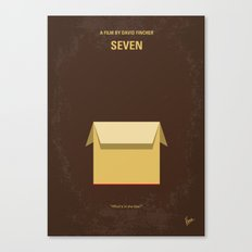 No233 My Seven minimal movie poster Canvas Print