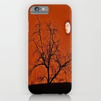 iPhone & iPod Case featuring Red Sky Moon by Biff Rendar