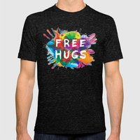 free hugs Mens Fitted Tee Tri-Black SMALL