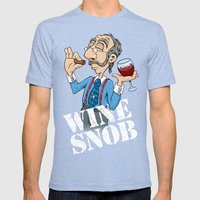 Wine Snob Mens Fitted Tee Tri-Blue SMALL