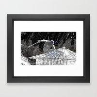 Black And White Ninja Tu… Framed Art Print