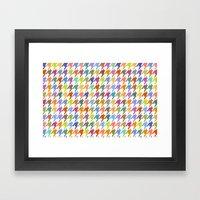Houndstooth!  Framed Art Print