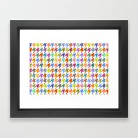 Houndstooth!  Framed Art Print